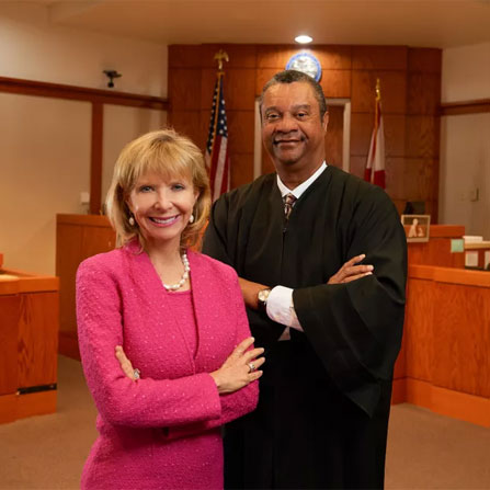 Judge Charles Williams and Attorney Charlie Ann Syprett