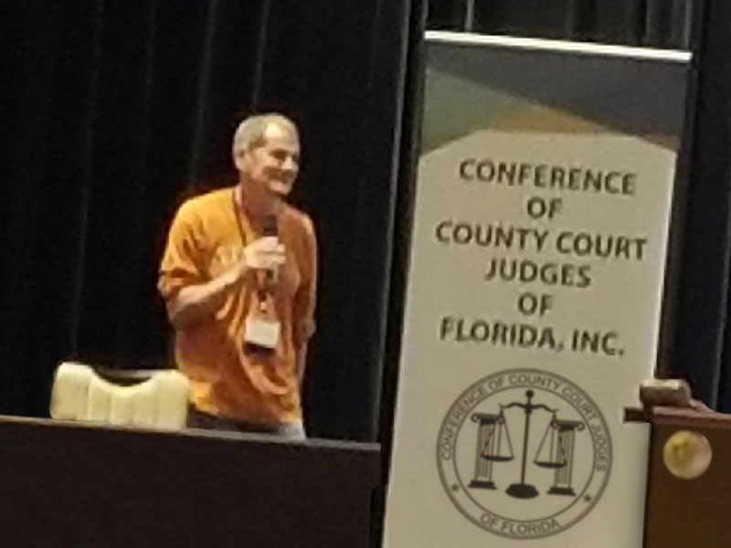 Judge Henderson at Conference of the County Court Judges of Florida