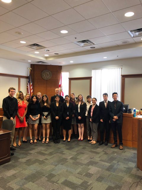 Mock Trial competion participants